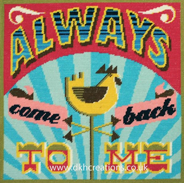 Always Come Back To Me Cushion Front Tapestry Kit
